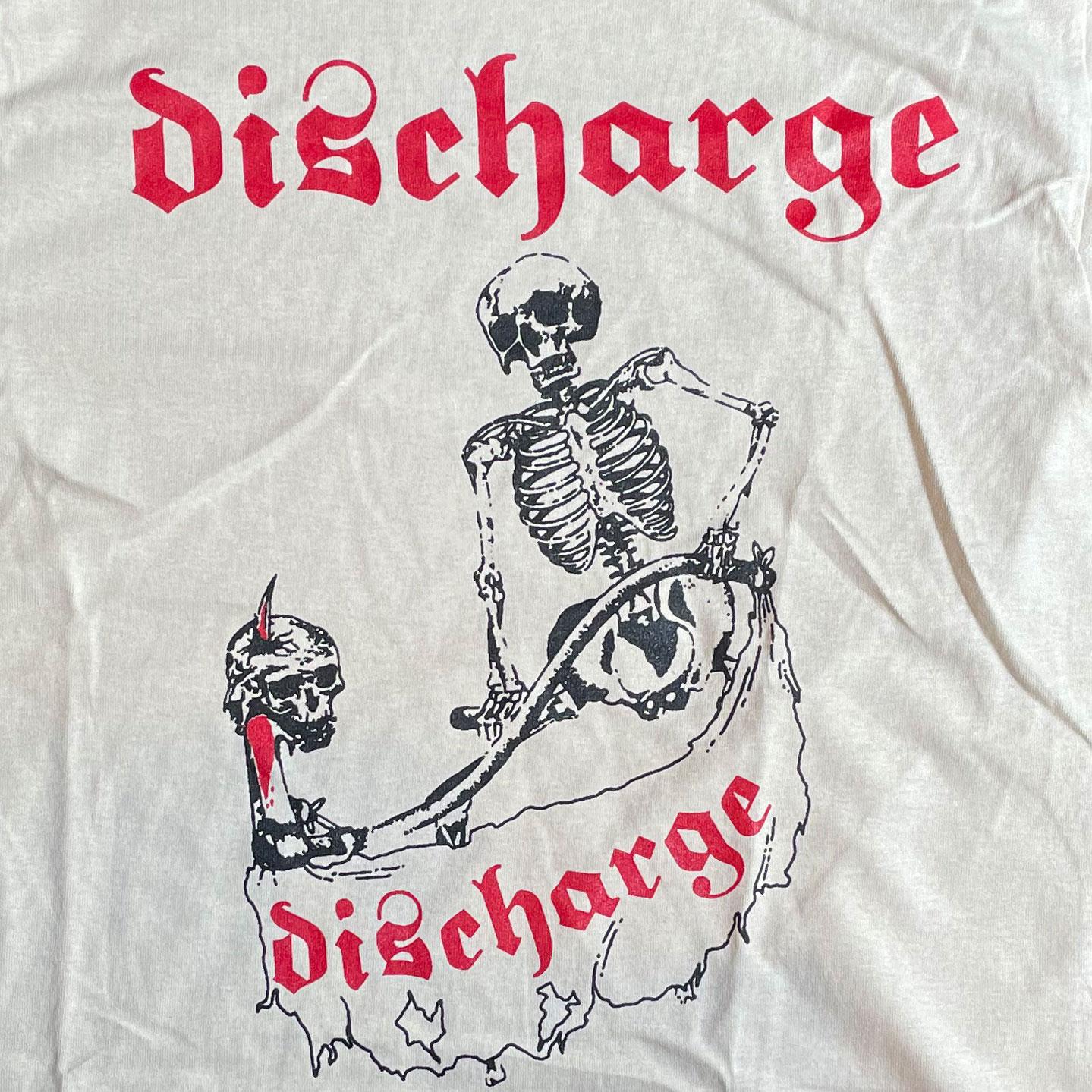 DISCHARGE Tシャツ SKULL オフィシャル!
