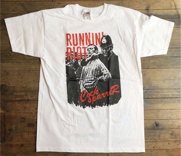 COCK SPARRER Tシャツ runnin' riot