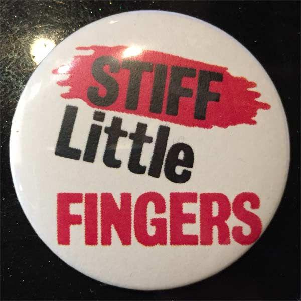 STIFF LITTLE FINGERS バッジ LOGO