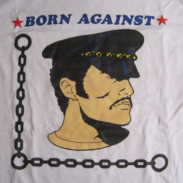 BORN AGAINST Tシャツ POLICE