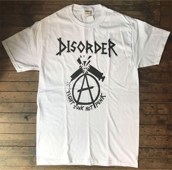 DISORDER Tシャツ FIGHT JUNK NOT PUNK