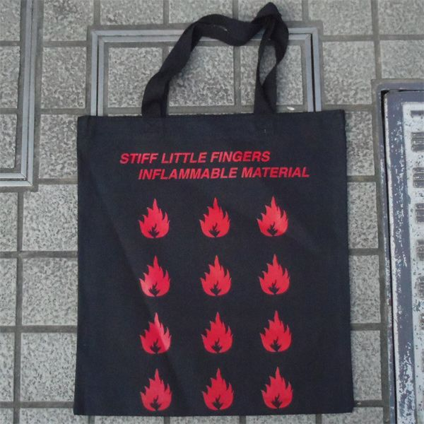 STIFF LITTLE FINGERS TOTEBAG INFLAMMABLE MATERIAL
