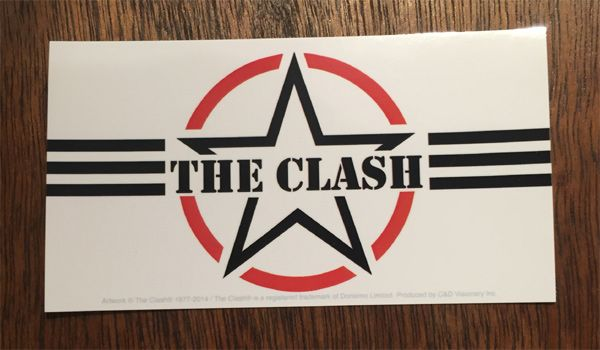 THE CLASH ステッカー STAR LOGO