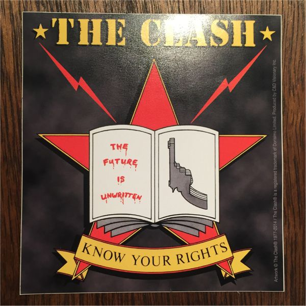 THE CLASH ステッカー KNOW YOUR RIGHTS