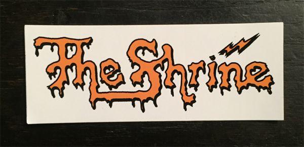 The SHRINE ステッカー LOGO