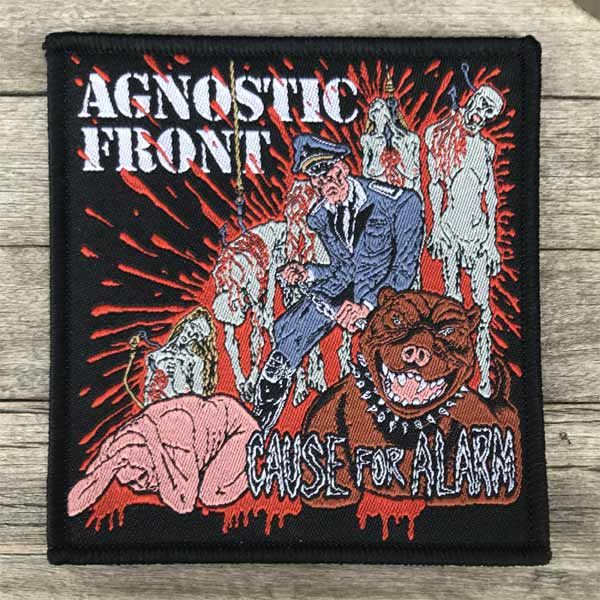 AGNOSTIC FRONT 刺繍ワッペン CAUSE FOR ALARM