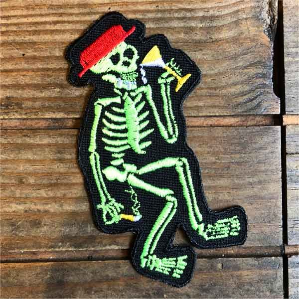 SOCIAL DISTORTION 刺繍ワッペン SKELETON
