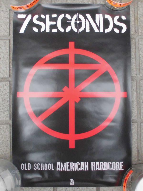 7SECONDS ポスター OLD SCHOOL AMERICAN HARDCORE