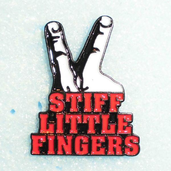 STIFF LITTLE FINGERS ピンバッジ FINGER