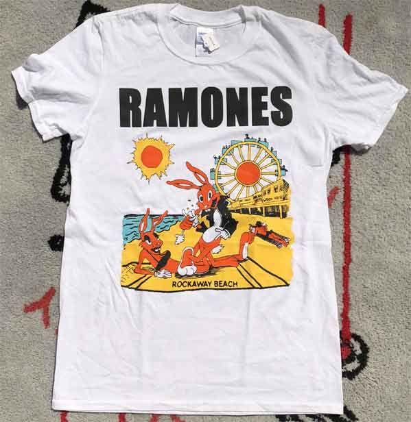 RAMONES Tシャツ ROCKAWAY BEACH
