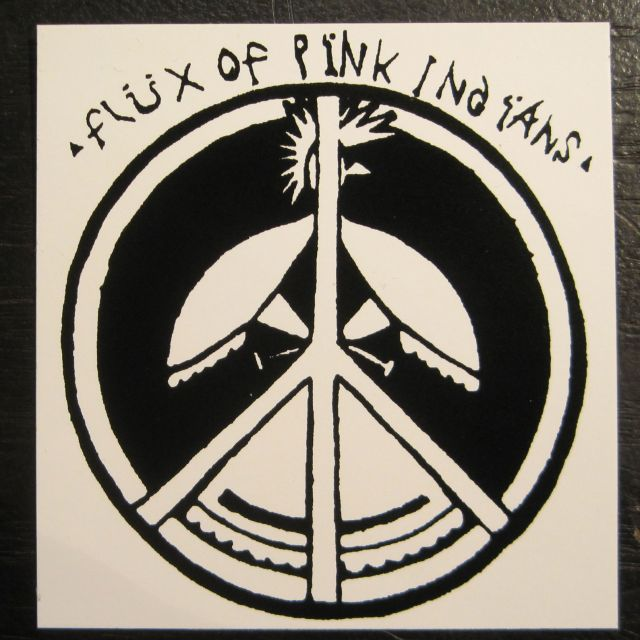 FLUX OF PINK INDIANS ステッカー ロゴマーク