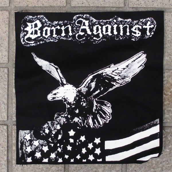 BORN AGAINST BACKPATCH EAGLE
