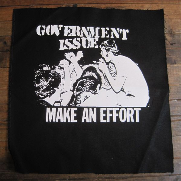 GOVERNMENT ISSUE BACKPATCH MAKE AN EFFORT