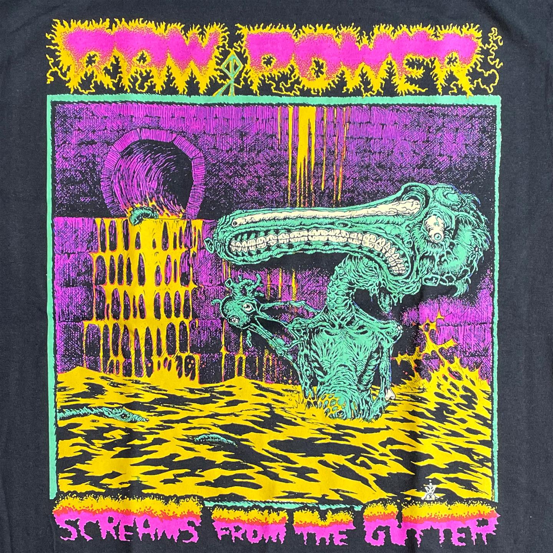 RAW POWER Tシャツ Screams From the Gutter オフィシャル!
