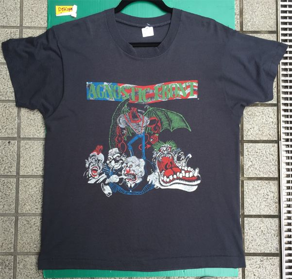 USED!AGNOSTIC FRONT Tシャツ 80sオリジナル‼