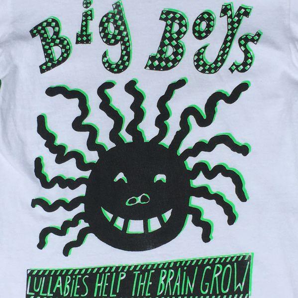 USED! BIG BOYS Tシャツ LULLABIES HELP THE BRAIN GROW