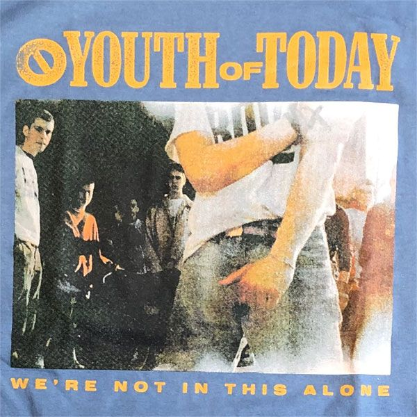 YOUTH OF TODAY Tシャツ WE ARE NOT IN THIS ALONE 3
