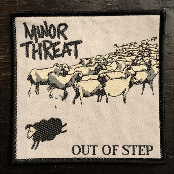 MINOR THREAT 刺繍ワッペン OUT OF STEP