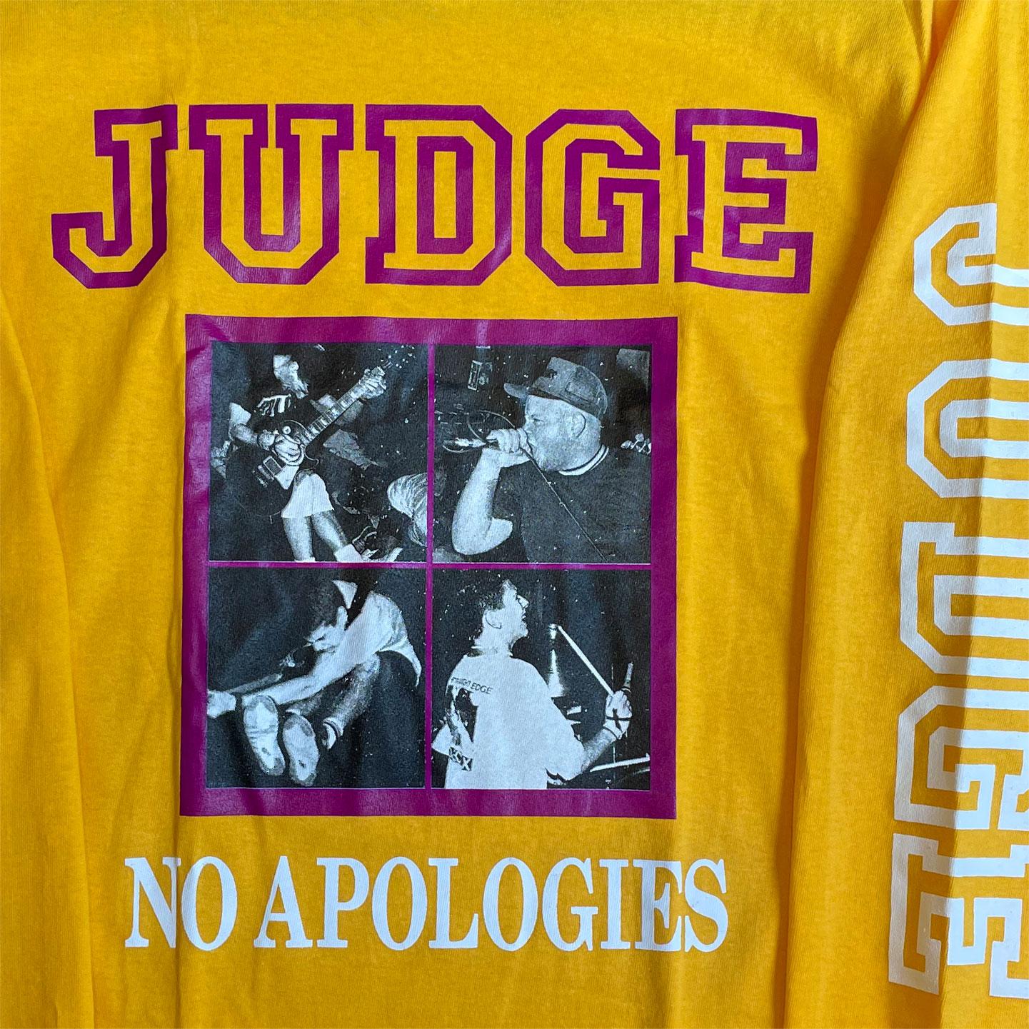 JUDGE ロングスリーブTシャツ NO APOLOGIES