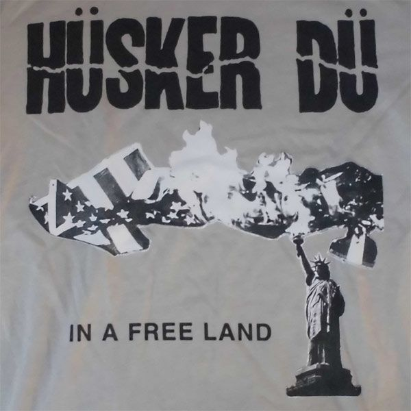 HUSKER DU Tシャツ IN A FREE LAND OFFICIAL!