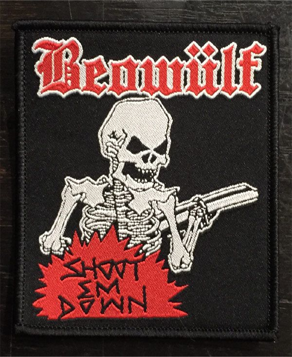 BEOWULF 刺繍ワッペン SHOOT EM DOWN OFFICIAL!