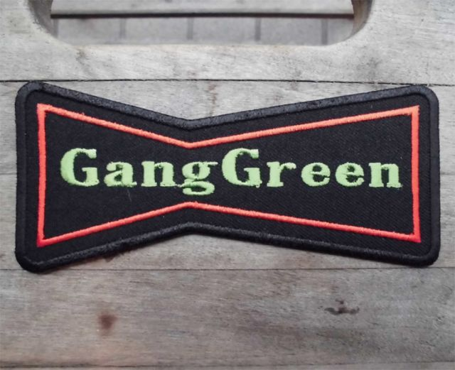 GANG GREEN 刺繍ワッペン Budweiserロゴ