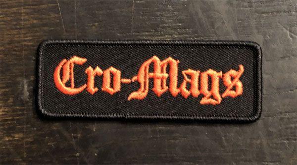 CRO-MAGS 刺繍ワッペン NAME