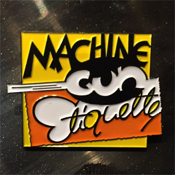 DAMNED ピンバッジ MACHINE GUN ETIQUETTE