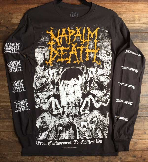 NAPALM DEATH ロンT From Enslavement To Obliteration OFFICIAL