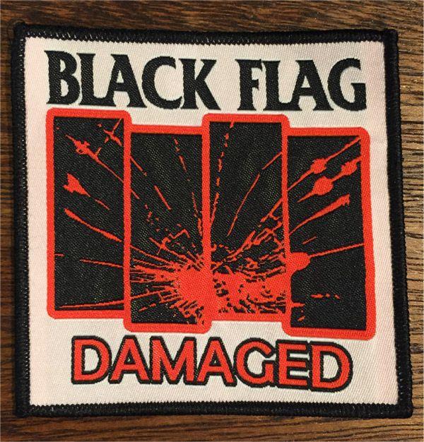 BLACK FLAG 刺繍ワッペン DAMAGED