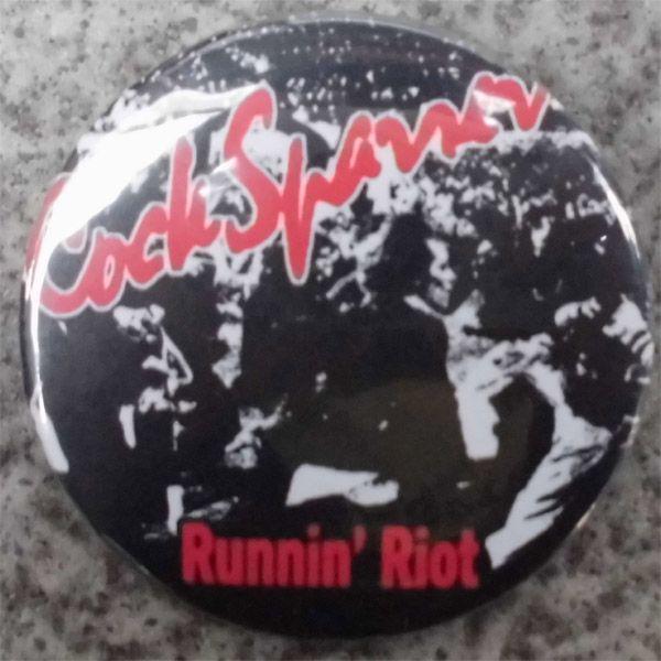 COCK SPARRER デカバッジ Runnin' Riot