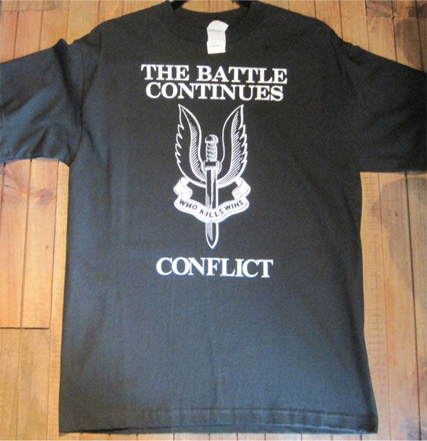 CONFLICT Tシャツ WHO DARES WINS