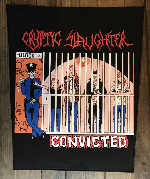 CRYPTIC SLAUGHTER BACKPATCH Convicted
