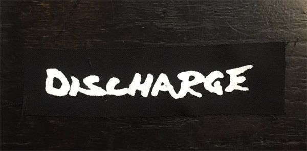 DISCHARGE PATCH LOGO