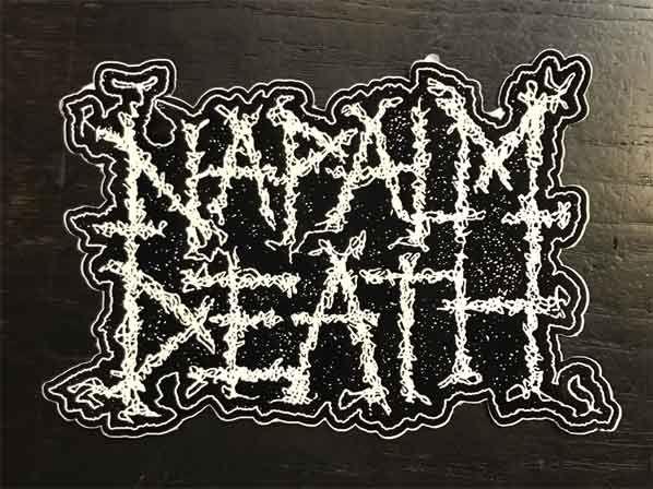 NAPALM DEATH ステッカー LOGO ダイカット