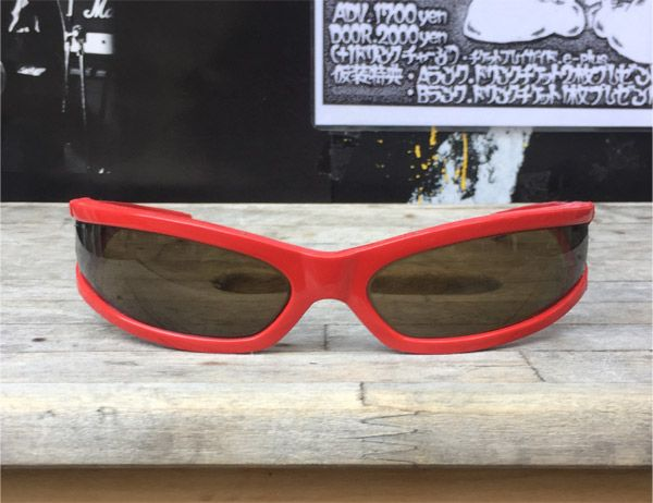 ITALY MADE VINTAGE CATSEYE SUNGLASS RED