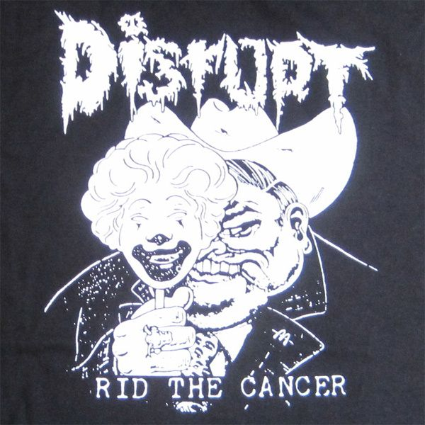 DISRUPT Tシャツ RID THE CANCER3