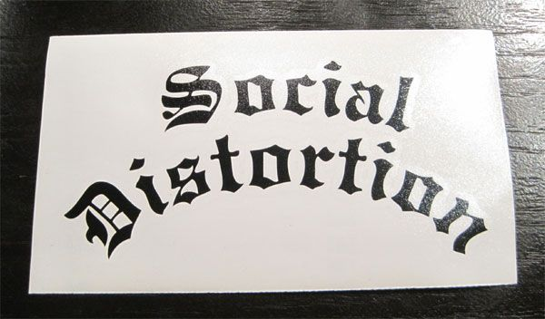SOCIAL DISTORTION ウィンドーステッカー