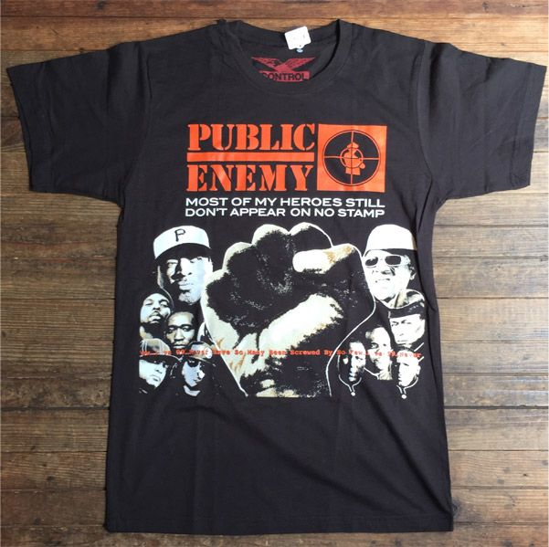 PUBLICENEMY Tシャツ Most Of My Heroes Still Don't Appear On No Stamp