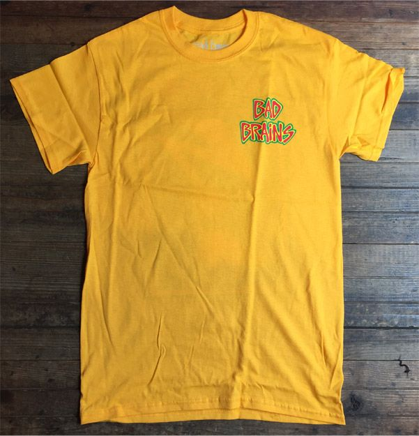 BAD BRAINS Tシャツ Front Logo & capital YELLOW