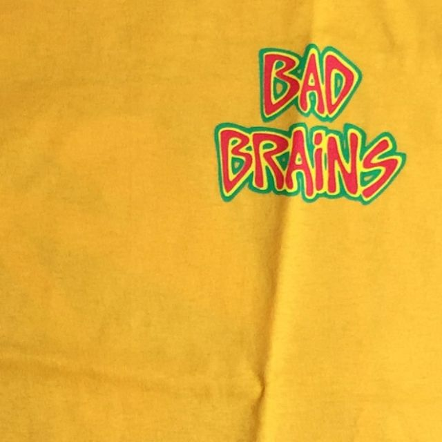 BAD BRAINS Tシャツ Front Logo & capital YELLOW