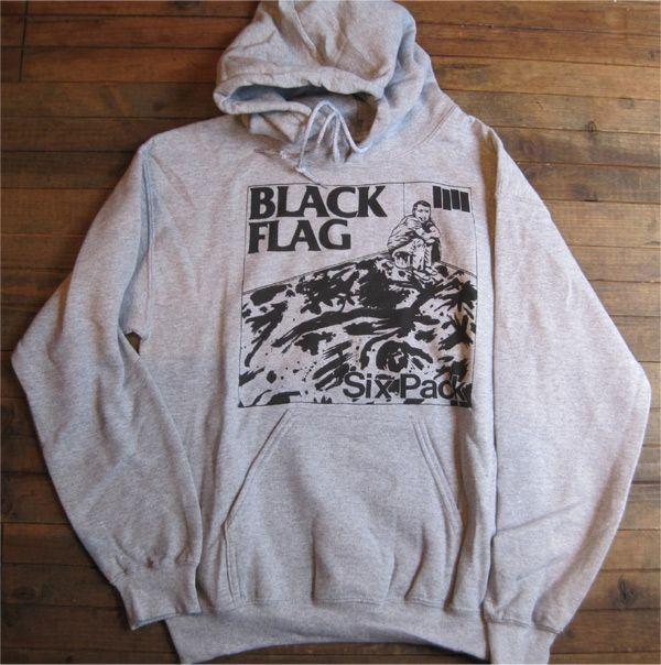 BLACK FLAG パーカー SIX PACK