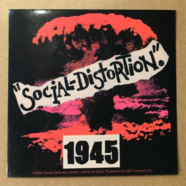 SOCIAL DISTORTION ステッカー 1945