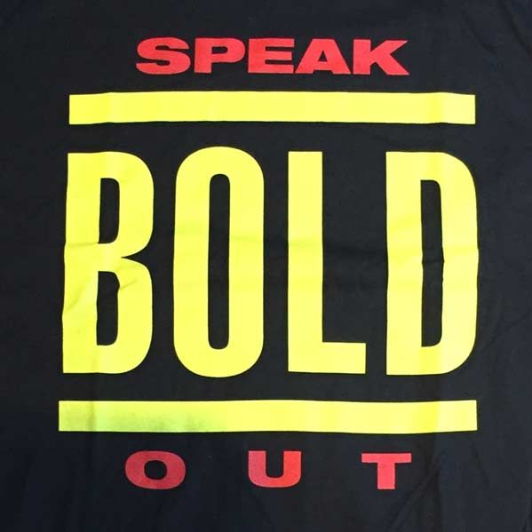 BOLD Tシャツ SPEAKOUT2