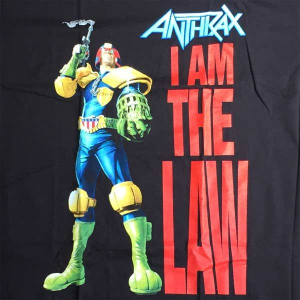 ANTHRAX Tシャツ I AM THE LAW 1
