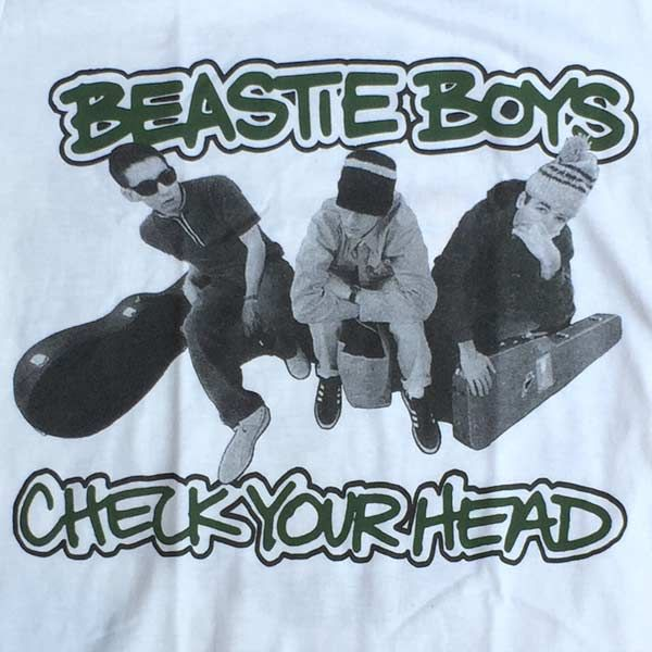 BEASTIE BOYS Tシャツ CHECK YOUR HEAD OFFICIAL!!!!!