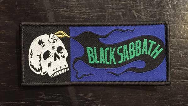 BLACK SABBATH 刺繍ワッペン SKULL