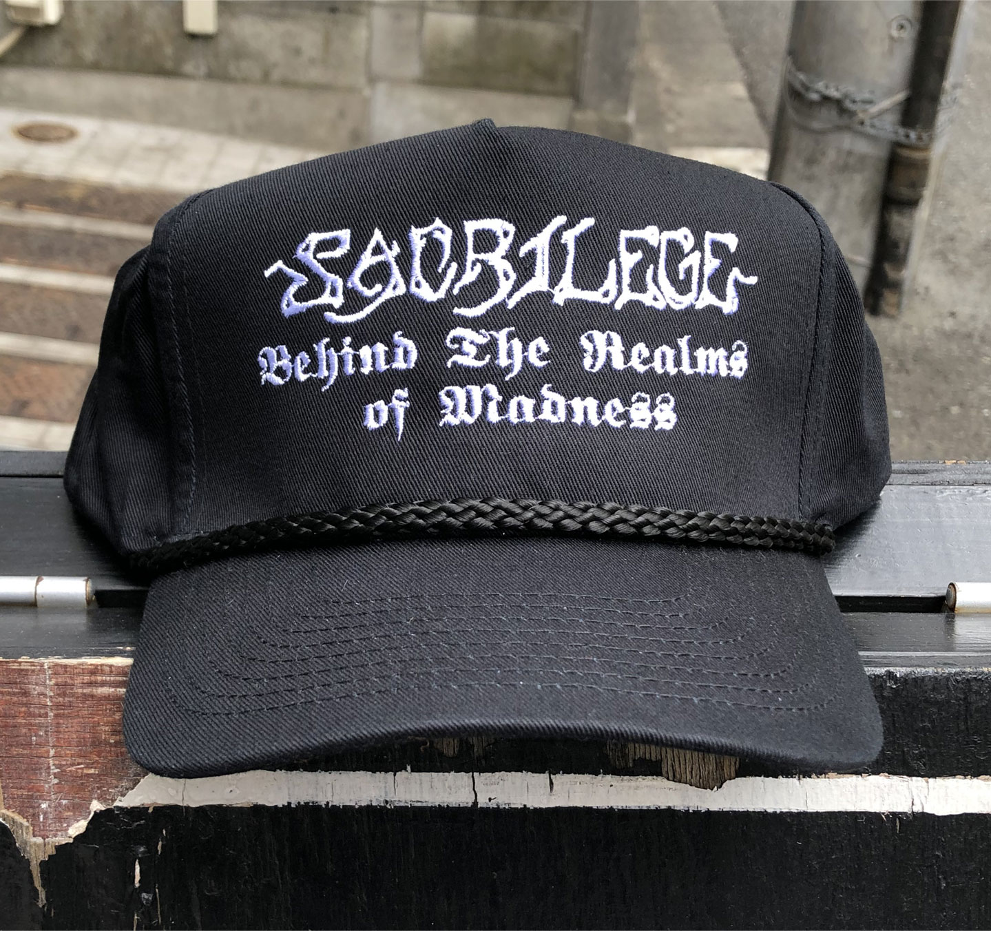 SACRILEGE CAP 刺繍ロゴ