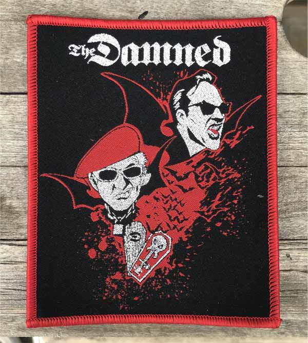 THE DAMNED 刺繍ワッペン DAVE and Captain