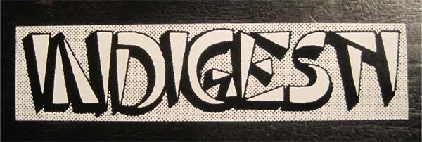 INDIGESTI ステッカー ロゴ